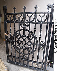 Classical design black wrought iron gate - Classical vintage...