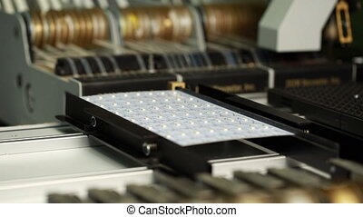 Modern technology. Machine manufactures LEd panel - Modern...