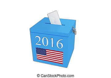 BALLOT BOX - Render illustration of ballot box with the...