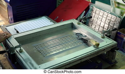 View of tool for machining circuit boards - Manufacturing...