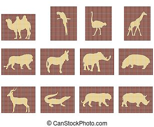 mosaic animals of Africa
