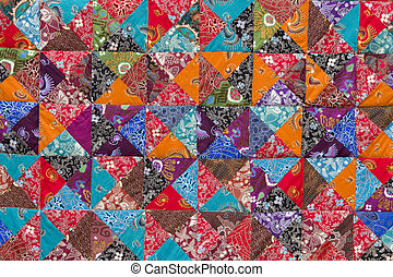 Colorful crazy quilt for sale, Island Bali, Indonesia