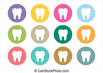 Tooth Icon logo set. Health, medical or doctor and dentist...