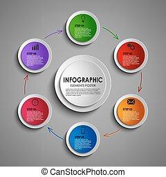 Info graphic round design element template vector eps 10