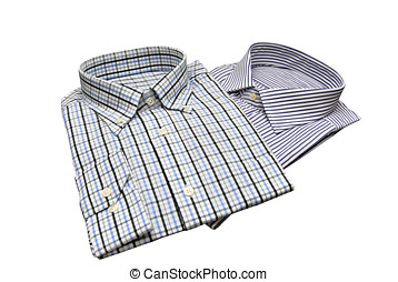 Shirts - Two shirts for men isolated over white Fashion...