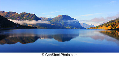 Fairy tale o Scandinavia - Scandinavian mountains, The North...