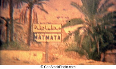 1975: Driving into Matmata Arab - 100% unique vintage 8mm...