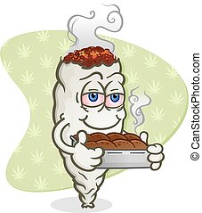 Marijuana Brownies Cartoon - A marijuana joint cartoon...