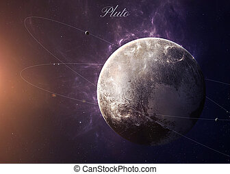 The Pluto with moons from space showing all they beauty....