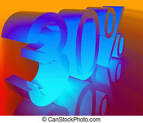 Thirty percent discount promotion