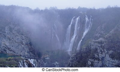 Plitvice lakes national park in Croatia - early morning...