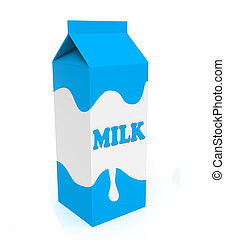 Blue and white milk box