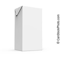 Juice, milk white carton box isolated