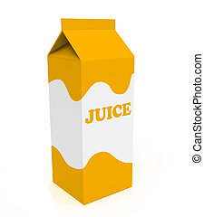 Orange and white juice box
