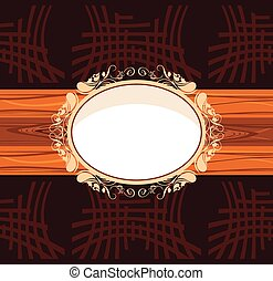 Decorative wooden frame