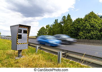 Automatic speed camera - Automatic radar flashing cars...
