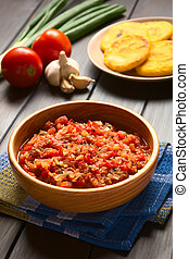 Colombian Hogao or Criollo Sauce - Colombian hogao or...