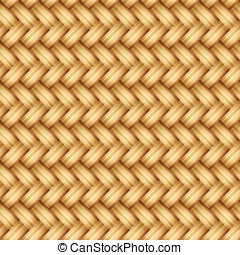 Wicker texture vector - Seamless weaving