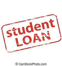 Student loan - Rubber stamp with text student loan inside,...