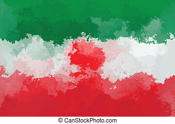 Iranian flag - grunge design pattern