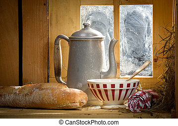 breakfast in the French countryside
