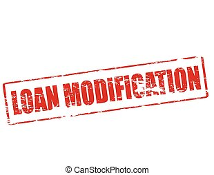 Loan modification - Rubber stamp with text loan modification...