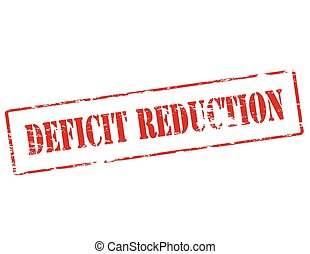 Deficit reduction - Rubber stamp with text deficit reduction...