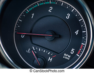 car tachometer clous-up
