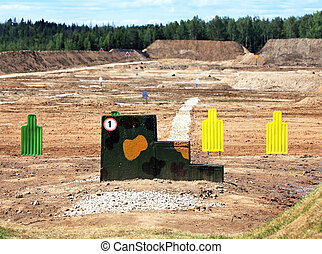 Shooting range - Targets for shooting from small arms at the...