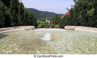 "Cascade Fountain ""Water Paradise"" in Baden-Baden. Europe...."