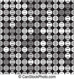 Vector seamless pattern with sport balls - Black and white...