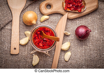 Ajvar - Ajvar - delicious dish of red peppers, onions and...