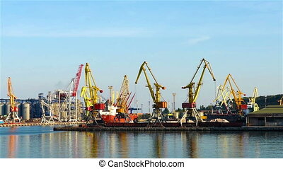 Container bridges in the port of Odessa