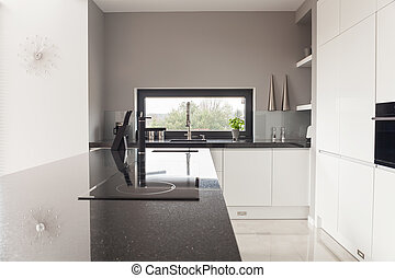 Modern design kitchen - Photo of modern design black and...