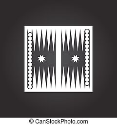Sport illustration - Vector flat white backgammon table with...