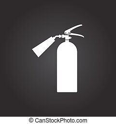 flat fire extinguisher - Vector flat white fire extinguisher...