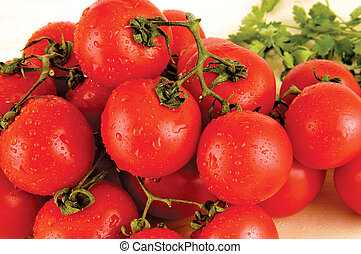 tomatoes - red tomato clusters