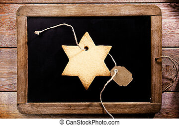 Freshly baked star shaped Christmas cookie - Freshly baked...
