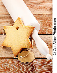 Christmas seasonal baking concept with a delicious crisp...