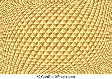 Geometric golden pattern. Abstract textured background....