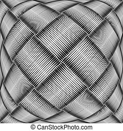Abstract textured geometric background. Checked and striped...