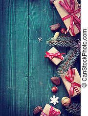 Christmas background with copyspace for a greeting -...