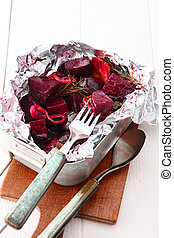 Delicious oven roasted fresh beetroot