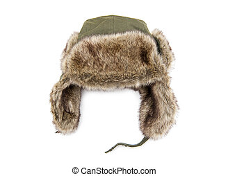 Cap - Furry cap isolated on the white background