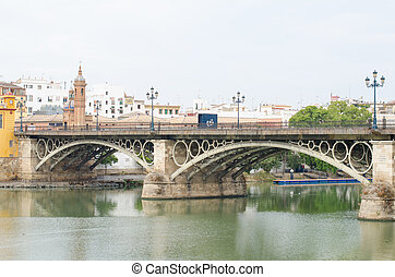 The bridge of Isabel II Triana bridge, Sevilla, Spain - The...