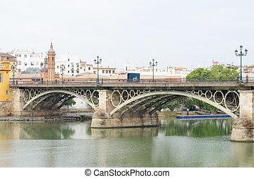 el, Puente, de, Isabel, II, (Triana, bridge), Sevilla,...