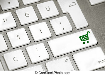 shopping cart button keyboard
