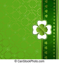 clover background - three and four leaf clover background