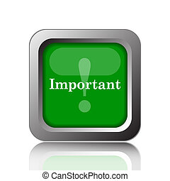 Important icon Internet button on black background