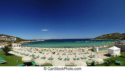 Costa Smeralda, Sardinia - Beautiful panoramic view at beach...